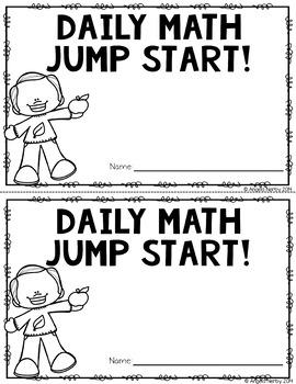 2nd Grade Daily Math Warm Ups: September