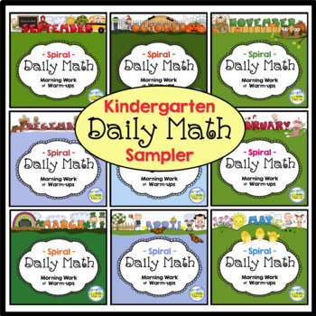 Spiral Daily Math - Kindergarten Sample Pages