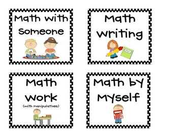 Daily Math Labels