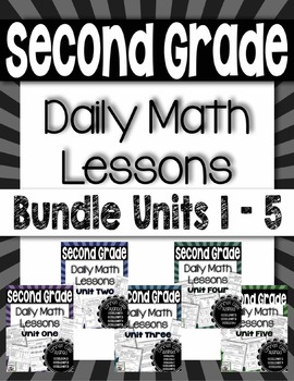 Daily Math Lessons - Bundle for Second Grade - Set One