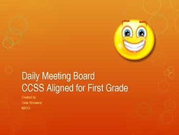 Daily Math Meeting Board for First Grade