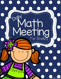 Daily Math Meeting- For Binders- Number of the Day- WHOLE YEAR