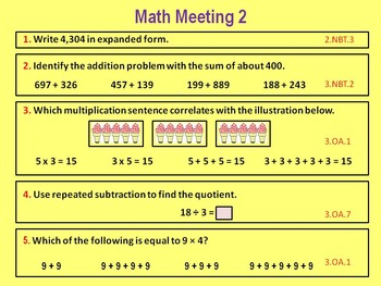 Daily Math Meetings