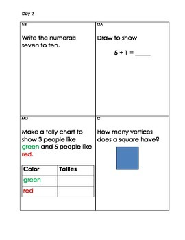 Daily Math Minute Common Core Aligned