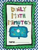 Daily Math Minute Workbook (Quarter-45 days) 3rd & 4th Grade
