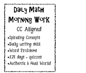 Math Daily Morning Work CC aligned