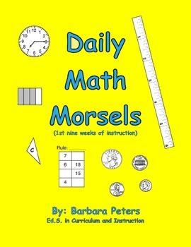 Daily Math Morsels #1 (Grades 3 - 4)