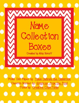 Daily Math: Name Collection Boxes