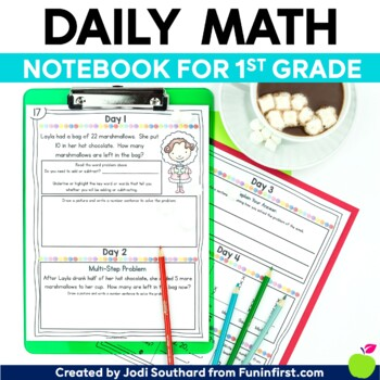 Daily Math Notebook {1st Grade Edition}