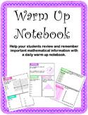 Daily Math Notebook: Warm- Up Activity