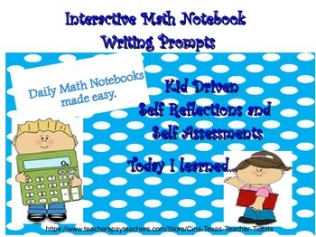 Daily Math Notebook Writing Prompts