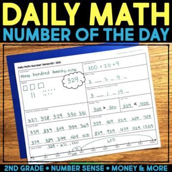 Daily Math Number of the Day - Number Sense, Addition & Subtraction