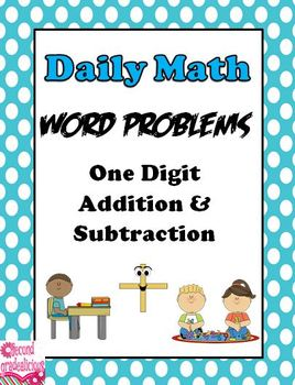One Digit Addition and Subtraction Word Problems