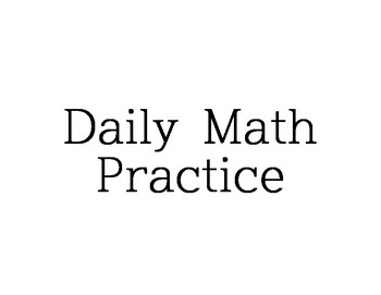 Daily Math Practice