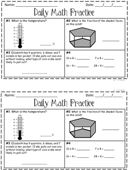Daily Math Practice 3rd Grade Set 4!