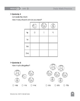 Daily Math Practice Bundle, Grade 2, Weeks 19-24