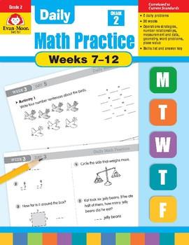 Daily Math Practice Bundle, Grade 2, Weeks 7-12