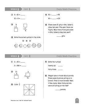 Daily Math Practice Bundle, Grade 3, Weeks 1-6