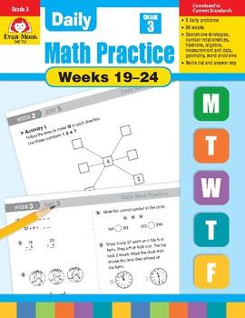 Daily Math Practice Bundle, Grade 3, Weeks 19-24
