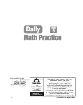 Daily Math Practice, Grade 5 - Teacher's Edition, E-book