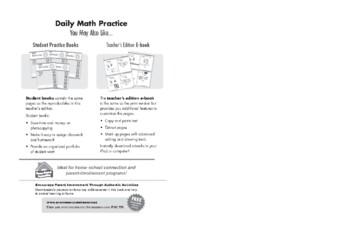 Daily Math Practice, Grade 6 - Teacher's Edition, E-book