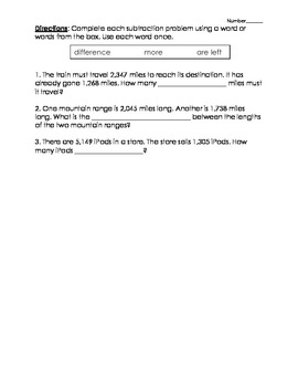 Daily Math Practice (D.M.P.) Grade 3 - Week 08 Test