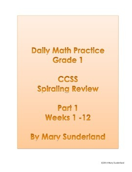 Daily Math Practice - Grade 1 - Part 1