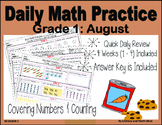 Daily Math Practice (Grade 1) August