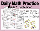Daily Math Practice (Grade 1) September