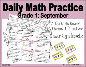 Daily Math Practice (Grade 1) September