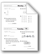 Daily Math Practice (Grade 1/Week 10)