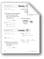 Daily Math Practice (Grade 1/Week 22)