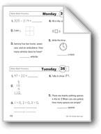 Daily Math Practice (Grade 1/Week 36)