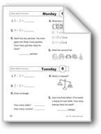 Daily Math Practice (Grade 1/Week 6)