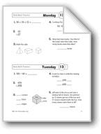 Daily Math Practice, Grade 3: Week 13