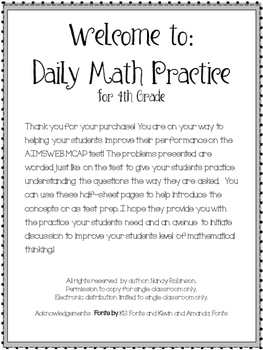 Daily Math Practice Grade 4
