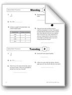 Daily Math Practice, Grade 4: Week 2