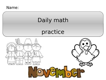 Daily Math Practice- November