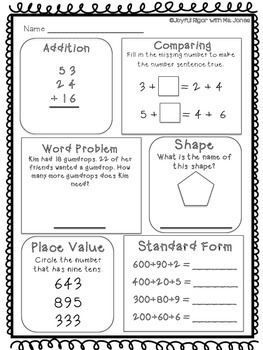 Daily Math Practice - PRINT and GO - January
