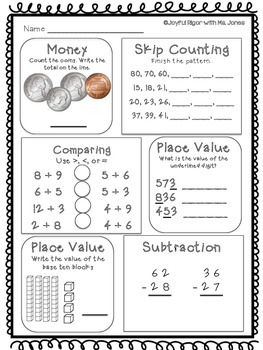 Daily Math Practice - PRINT and GO - May