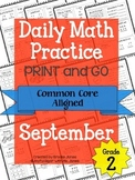 Daily Math Practice - PRINT and GO - September
