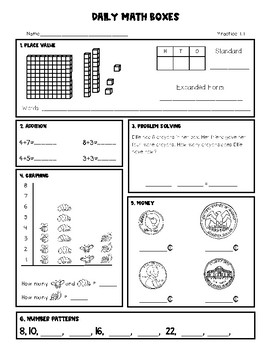 Daily Math Practice Set 1