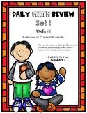 2nd Grade Daily Math Spiral Review Set 1