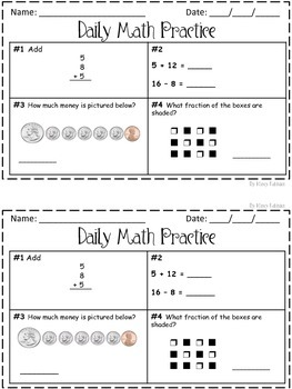 Daily Math Practice! 2nd Grade Set 3