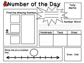 Daily Math Practice Sheet