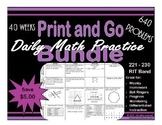 Daily Math Practice Bundle for RIT Band 221 - 230
