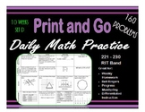 Daily Math Practice for RIT Band 221 - 230 Set A