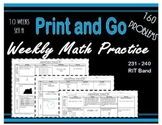 Daily Math Practice for RIT Band 231 - 240 Bundle