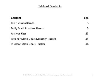Daily Math Practice for RIT Band 231 - 240 Set C
