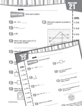 Daily Math Practice for Sixth Grade